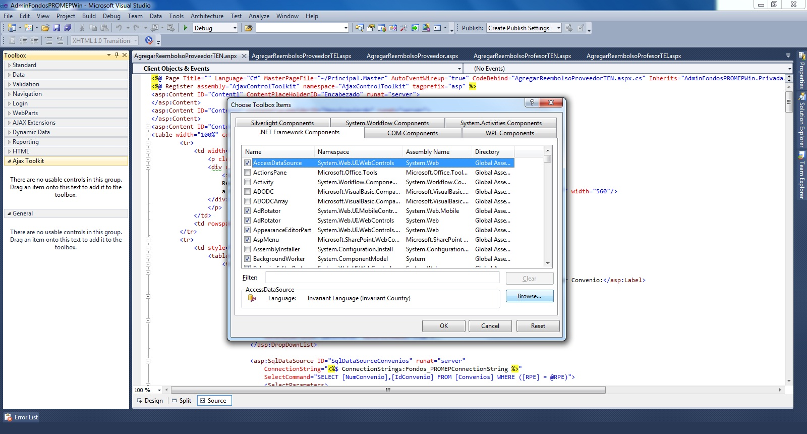 How to Add Ajax Toolkit To Visual Studio IDE
